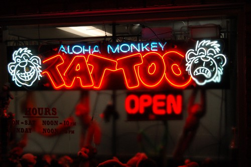 Cat Pile · Aloha Monkey Tattoo