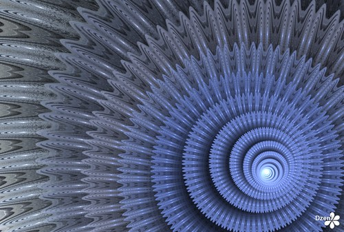 Blue Spiral Cog