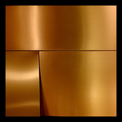 BA abstract 2 (Downtown) (♫ marc_l'esperance) Tags: abstract color colour geometric argentina lines metal canon eos gold iso800 buenosaires soft raw geometry metallic abstractart © hard smooth shapes surface minimal clean 10d gradient abstraction minimalism curve curved simple minimalist allrightsreserved 2007 cml instantfave canonef1635mmf28lusm