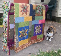 quilt rack makeover with friendship quilt