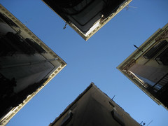 X (whatabiggame) Tags: barcelona blue sky x gotic