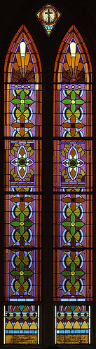 Sainte Genevieve Roman Catholic Church, in Sainte Genevieve, Missouri, USA - stained glass window 2