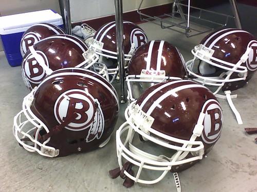football helmet decals. Chickasaw Football Helmets