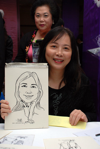 Caricature Singapore Swimming Club NYE 6