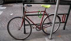 Green lock (Gianluca Ermanno (aka Vygotskij 30.000)) Tags: italien italy torino italia bikes objects bicycles piemonte bici turin piedmont italie picnik oggetti italians cose biciclette piemont piamonte fotoincatenate piamont