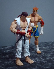 Ryu & Adon (SuperiorRAW) Tags: street game toys video fighter action figures ryu sota adon