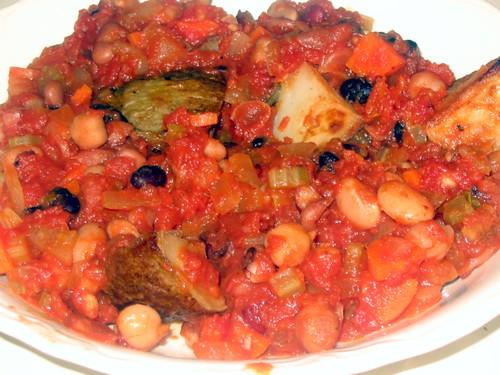 tomato/bean/potato dinner