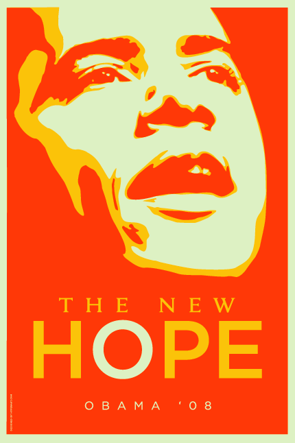 Barack Obama Poster Orange
