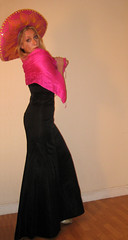 Moutarde Sombrero (hellabella) Tags: pink black hat dress mexican ridiculous sombrero completely ballgown moutarde ilovebootsartemis bootsartemisrocks