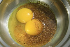 Sabayon au curry dans son bain-marie