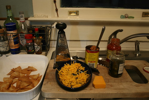 The Texas Nacho Preparation Area