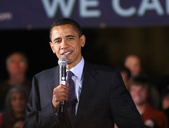 campaigning with a smile (Barack Obama in Austin #3)