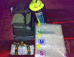 Travel bags, towels and sheets