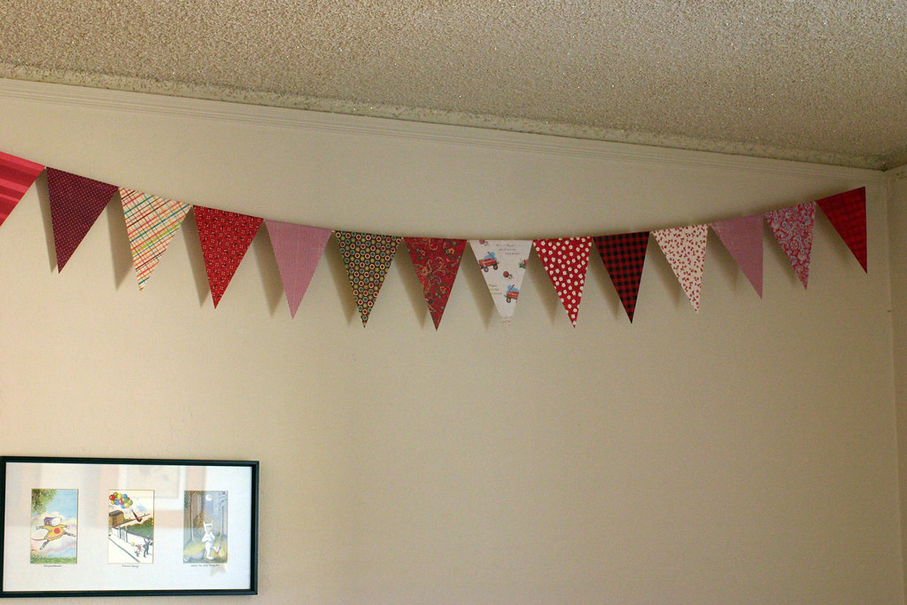 Flag garland for W's room