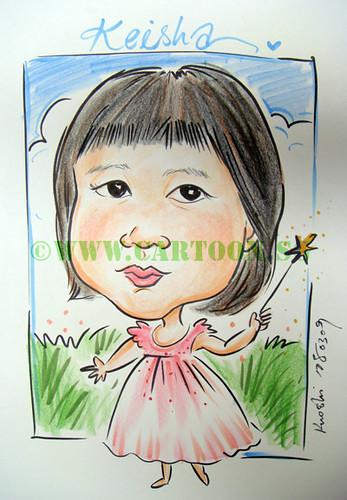 cartoon caricature. ballerina caricature drawn