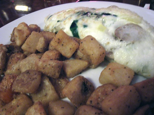 Florentine egg-white omelette and home fries, The Metropolitan
