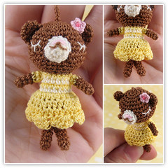 bear in yellow dress