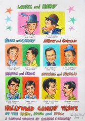 Hollywood Comedy Teams - Cartoon Tribute (2008) by Stephen B Whatley (Stephen B. Whatley) Tags: pink blue orange flower green art yellow fun hawaii 1930s comedy comic gorilla turquoise cartoon bowtie happiness cigar 1940s hollywood 1950s bowlerhat daisy movies laughter bluebird belalugosi laurelhardy deanmartin desertisland abbottcostello jerrylewis martinlewis sammypetrillo goldenageofhollywood wallybrown dukemitchell browncarney mitchellpetrillo alancarney