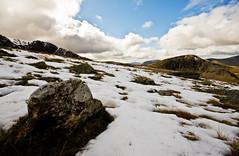 Sean's inflatable rock (c@rljones) Tags: mountain snow mountains cold wales landscape cymru freezing snowdonia gwynedd wyddfa snowdown belial seanbolton inflatablerock eryrir httpwwwrljonescouk