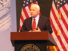McCain reads teleprompter