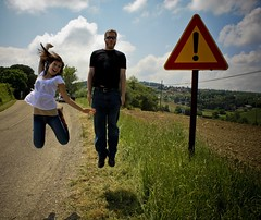 exclamation point = jump! (TeeRish) Tags: italy bodylanguage dorks todi 62inexplore 263inexplore flickrdestination 204inexplore