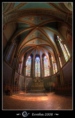 Interior of the 'Kappellekerk', Brussels - Belgium (Erroba) Tags: light red brussels orange color green photoshop canon rebel belgium interior tripod gothic cyan bruxelles sigma fisheye tips remote erlend brussel chapelle hdr curch cs3 10mm 3xp firstquality photomatix supershot tonemapped tonemapping xti fineartphotos 400d kapellekerk proudshopper erroba robaye erlendrobaye detallessculpturalandaechitecturaltreasures