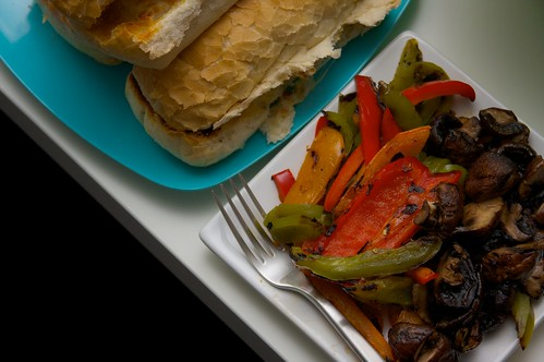 grilled peppers & mushrooms