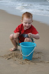 Kade enjoying the huge sandbox