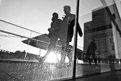 Walking by. (John Bastoen) Tags: straatfotografie street streetphotography trainstation travellers blurry