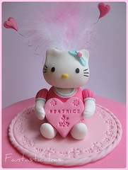 Topper Hello Kitty (Fantasticakes (Ccile)) Tags: pink hellokitty girlcake sugarmodelling