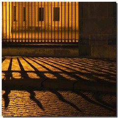 Graphisms in the night (Nespyxel) Tags: light grate gate shadows prague silhouettes praha praga ombre grill luce cancello pave grafismo graphism challengeyouwinner saariysqualitypictures pleasedontusethisimageonwebsites blogsorothermediawithoutmyexplicitpermissionallrightsreserved