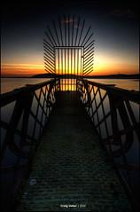 Hazy finish (CU-Photography) Tags: road park old sunset water metal scotland clyde greenock pier craig thom loch usher regional largs inverclyde oldlargsroad muirsheil