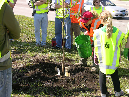 2011 Arbor Day Greenway water