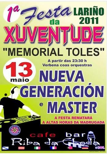 Carnota 2011 - I Festa da Xuventude de Lariño - cartel