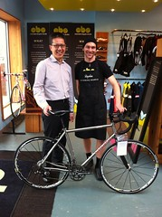 JH insists JW poses with him and his new Seven Axiom SL