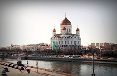 Cathedral of Christ the Saviour (Serge 585) Tags: city history church architecture canon river religious march spring aqua christ cathedral russia moscow religion r histoire christianity russian orthodox architettura chapelle storico saviour москва россия moscowriver архитектура река храм религия chrześcijaństwo православие москварека христианство