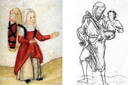 medieval babywearing