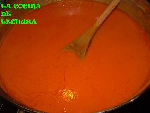 Bacalao salsa piquillos hecha