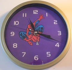 Spidey clock (Foot Slogger) Tags: blue red geometric home purple almostsquaredcircle cmwdpinkpurple