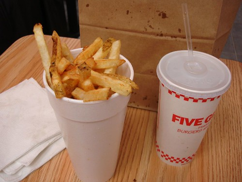 Large Fry & Soda @ Five Guys, Midtown