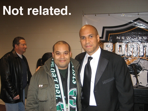 SF & Mayor Cory Booker image for The Offside Rules