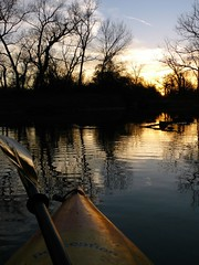 Warm Winter Sunset (FreeWine) Tags: sunset reflection oklahoma water river landscape perception kayak scenic explore kayaking nuyaka supershot deepforkriver