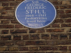 Photo of George Frederic Still blue plaque