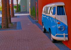 Truckin' (oybay©) Tags: street trees arizona abstract bus art classic car vw truck volkswagen automobile artistic expression palm palmtrees half van tempe vdub sanfelipescantina
