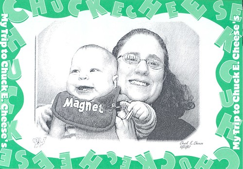 JSL & Moi sketch at Chuck E Cheese
