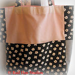 Flower Power CLEARANCE<p>Black, White and Pink Extra Large Knitting Tote or Diaper Bag