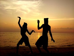 evil dance (ahmed (John)) Tags: sunset sea people silhouette kids dance eid evil lagoon greetings maldives soe velidhoo platinumphoto diamondclassphotographer flickrdiamond