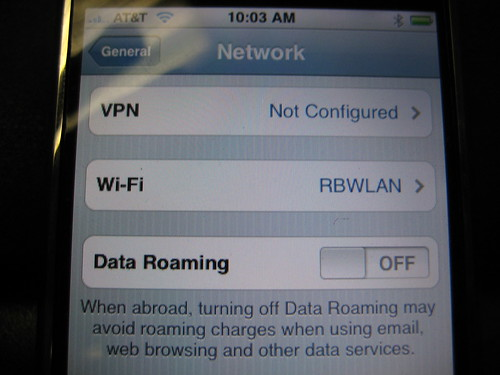 "iPhone Keep Data Roaming ""OFF"""