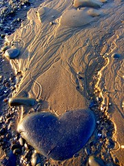 Heart Strings (lisaluvz) Tags: sea abstract beach water coast sand heart stones tide pebbles marks shore shape takeabow blueribbonwinner supershot platinumphoto theunforgettablepictures betterthangood lisaluvz theloveshack
