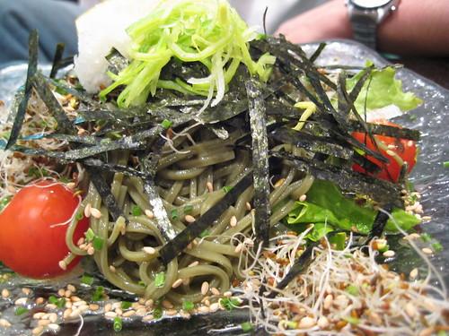 salade de nouille au thé vert